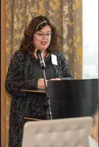 Image of Sara Maccallum speaking